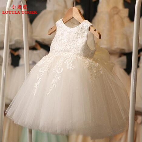 2017 First Communion Dresses For Girl Tulle Lace Infant Toddler Pageant Flower Girl Dress for Wedding and Birthday and christmas brandwen formal white dresses for girl tulle lace infant toddler pageant pearls girl dress for wedding and birthday vestidos