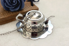 #GJ567 304 Stainless Steel Silvery Teapot Shape Tea Infuser Strainer tool wholesales