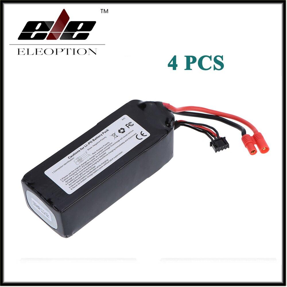 4 pièces Eleoption RC 11.1 V 5200 mAh 10C LiPo batterie 3 S avec 3.5mm banane balle Plug pour Walkera QR X350 PRO