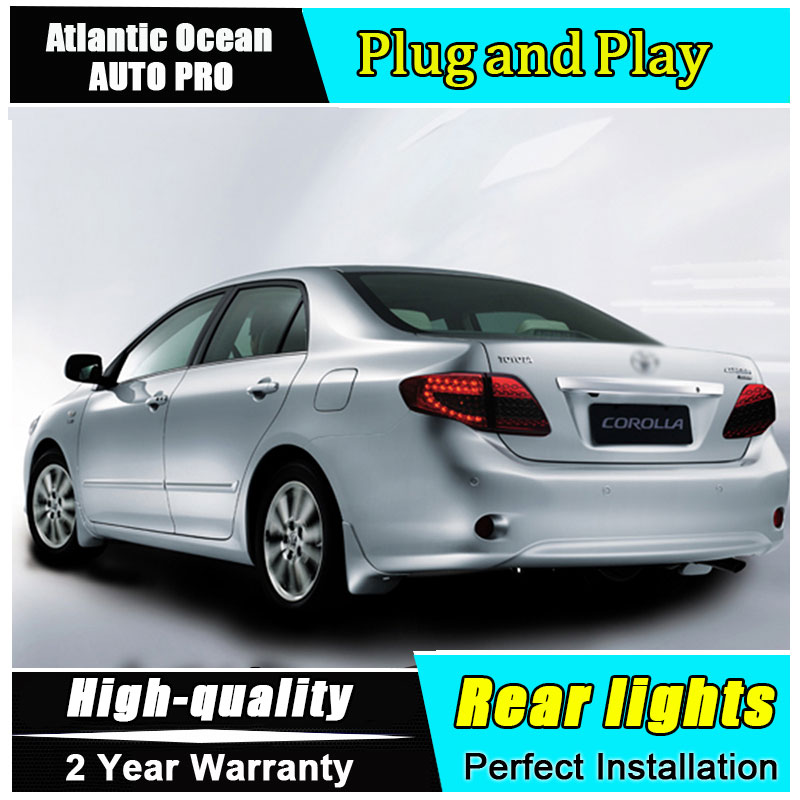 JGRT Car Styling for Toyota Corolla Taillights 2007-2010 for Corolla LED Tail Lamp Altis Rear Lamp Fog Light For 1Pair ,4PCS new halogen fog light lamp with wires and button for toyota corolla 2014 altis