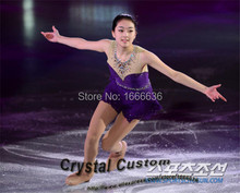 2016 Child Figure Skating Dresses With Spandex New Brand Vogue Figure Skating Competition Dress For Girls DR3021