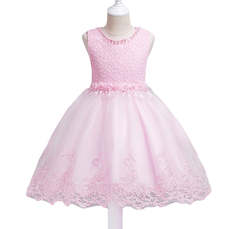 Elegent Flower Girl dress For Girls Clothes Summer Girls Dress Kids Wedding Party Dress Girls Princess Dresses Vestidos new kids princess dress for girls dresses for summer party dress wedding flower girl dress girls clothing gift 6 colors