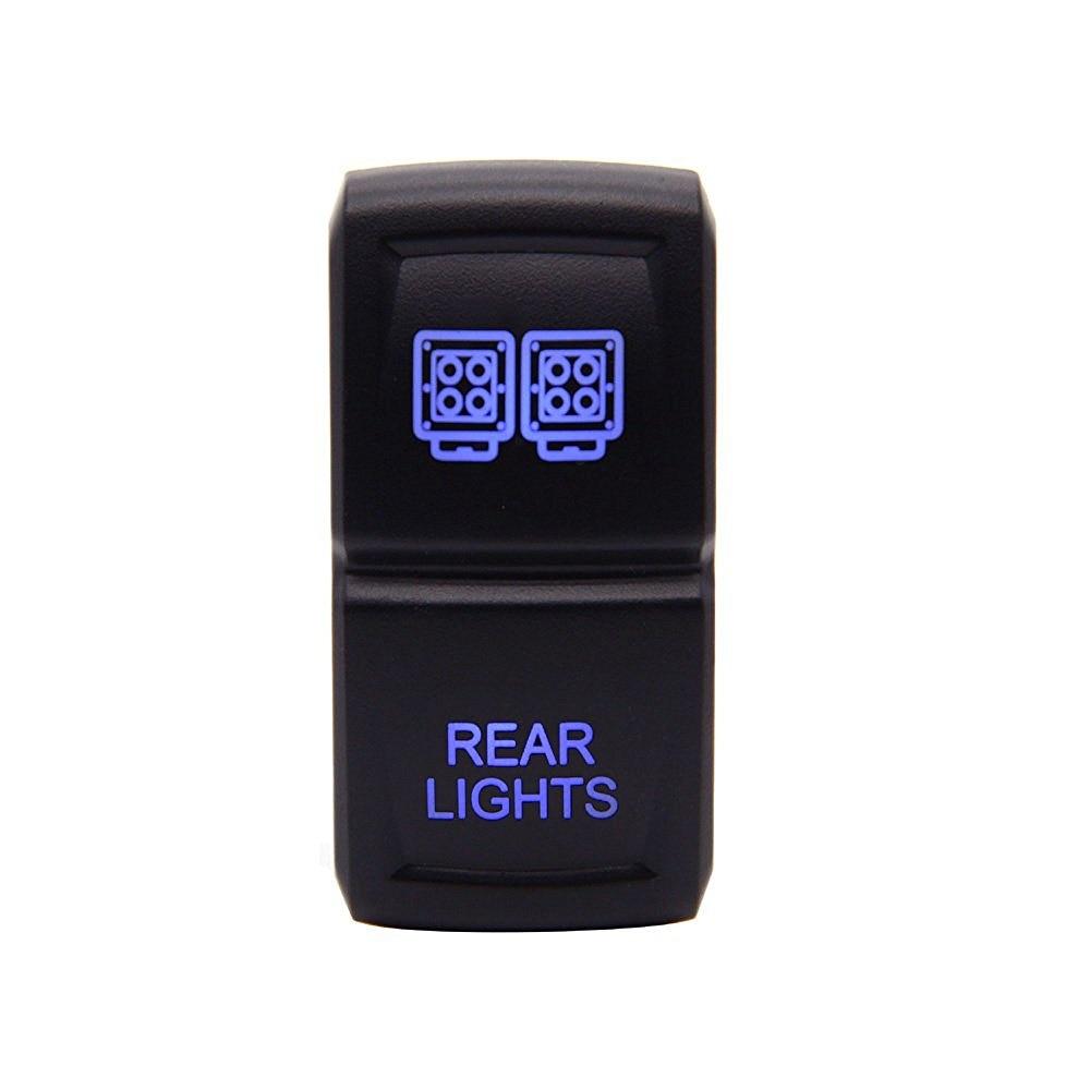 Rocker switch zombie lights led light bars amp off road lighting - Car Toggle Switch Laser Blue Led Rocker Switch 5 Pins For Car Motor Boat 20 Amp 12 Volt On Off Rocker Switch Rear Lights