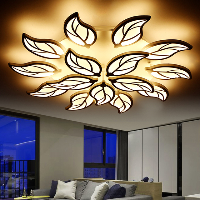Modern LED Ceiling Lights For Living Room Bedrooms Flower Shape Lamp AC90 265V
