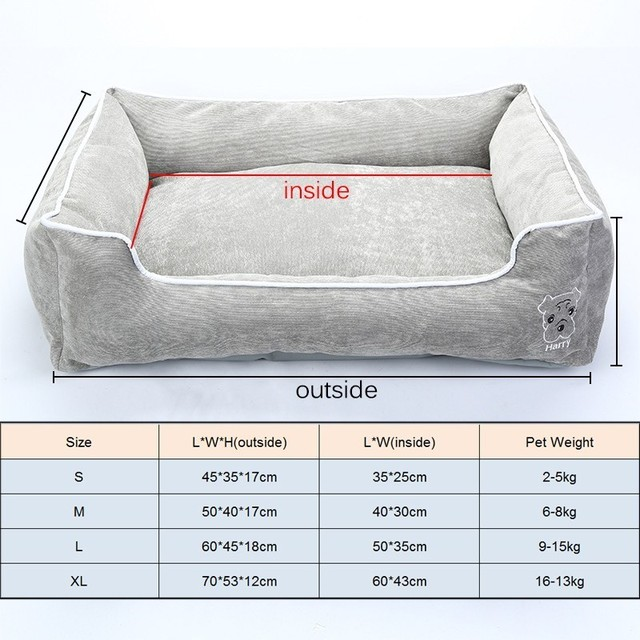 Pet Bed for Small Medium Large Dog Crate Pad Deluxe Soft Bedding Moisture Proof Bottom for All Seasons Puppy Dog House Pet Bed 2