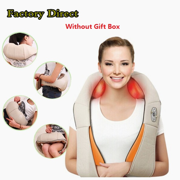 ФОТО 2016 Multifunction health care infrared car home Dual massager acupuncture 3D massager knead pillow DHL Free Shipping