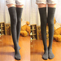 Feitong Moda 2017 1 Par Recém Sexy Meia Feminina de Algodão Sobre O Joelho Meias Coxa Alta Stocking Thinner Venda Quente