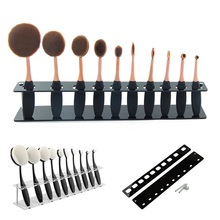 New Cosmetic Makeup Brush Display Holder For 10Pcs Toothbrush Foundation Brush Shelf Hot Sale