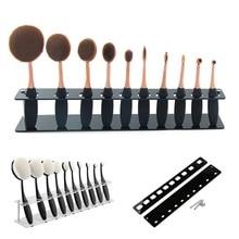 New Cosmetic Makeup Brush Display Holder For 10Pcs Toothbrush Foundation Brush Shelf Hot Sale