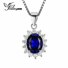JewelryPalace Кейт Принцесса Диана Уильям 2.5ct Синий Сапфир Подвеска 925 Серебряная Свадьба Кулон Ювелирные Изделия Для Женщин Подарок(China (Mainland))