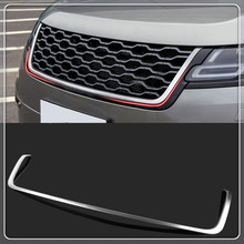High Equiped For Land Rover Range Rover Velar 2017 2018 Car front center grille grill cover trim Stainless Steel Car styling