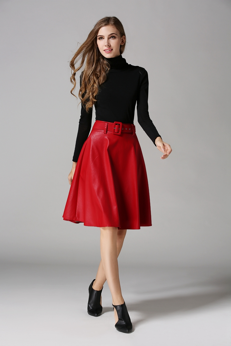 Compare Prices on Leather Swing Skirt- Online Shopping/Buy Low ...