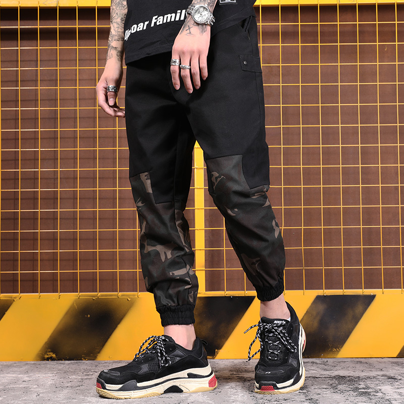 M-5XL Mens Haren Ankle Length Pants for Male Casual Sweatpants Hip Hop Pants Streetwear Trousers Loose Track Joggers Man Trouser
