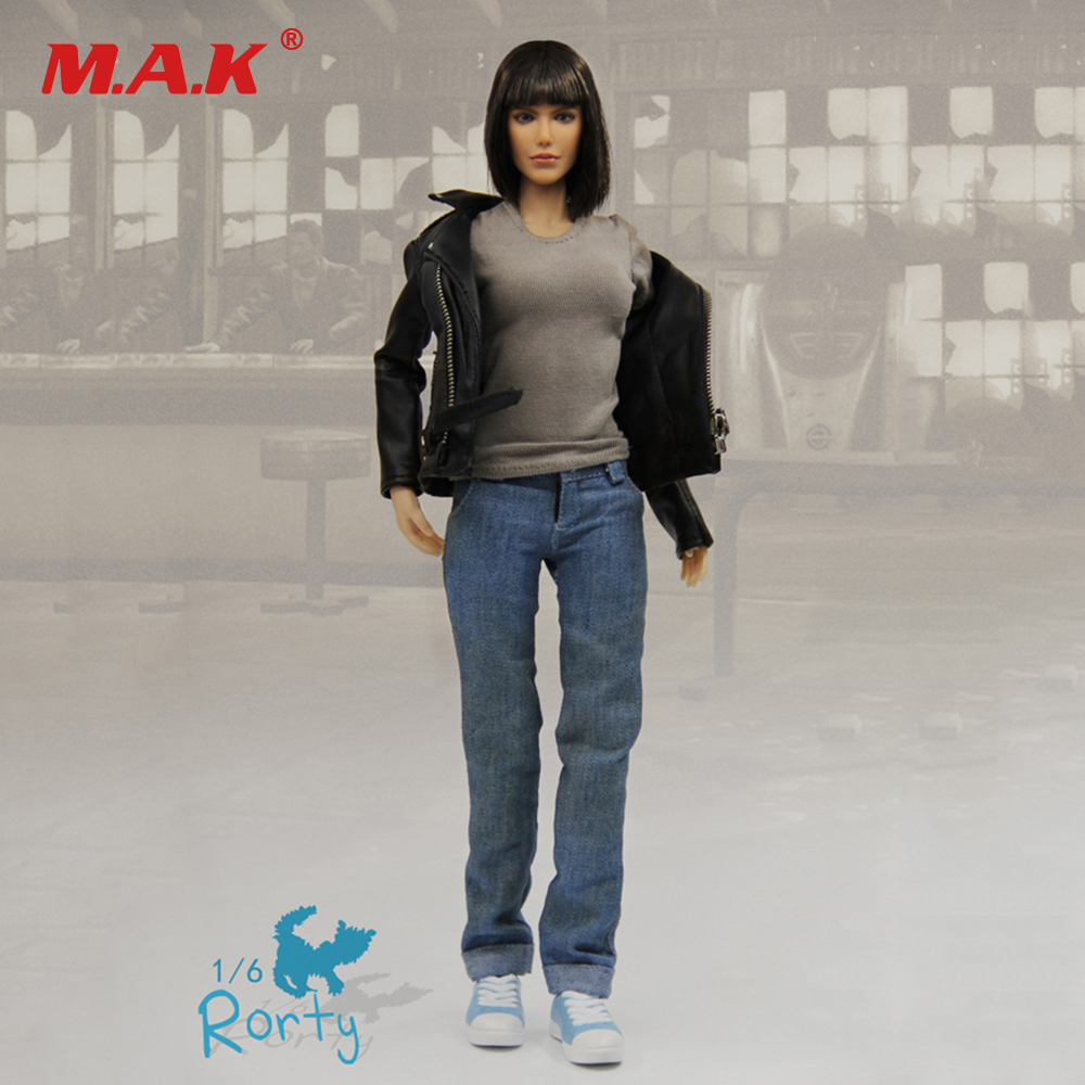 1/6 Atom Cats Rorty Female Action Figure Model Figures With Jacket Jeans Set Collections