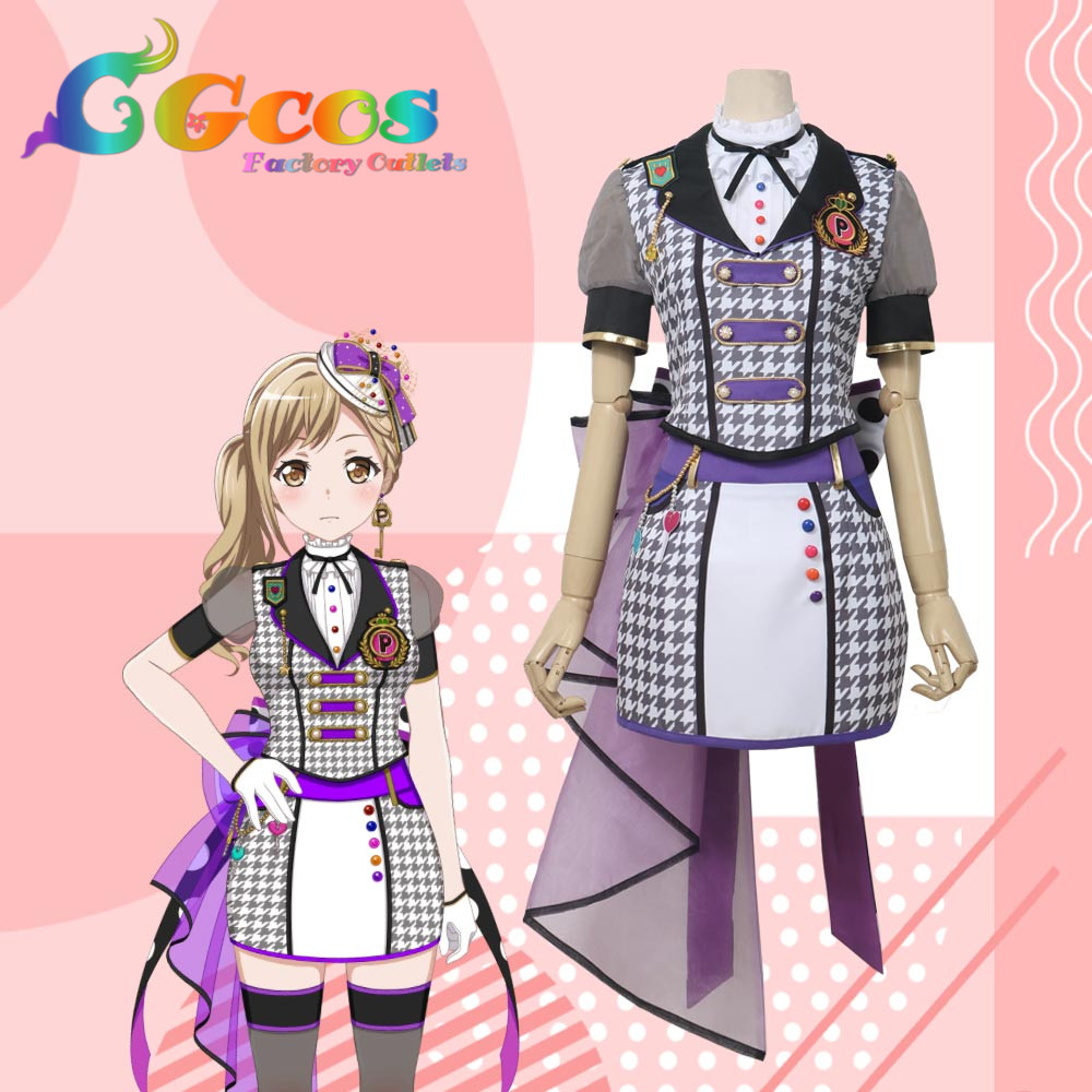 CGCOS Free Shipping Cosplay Costume BanG Dream! Poppin