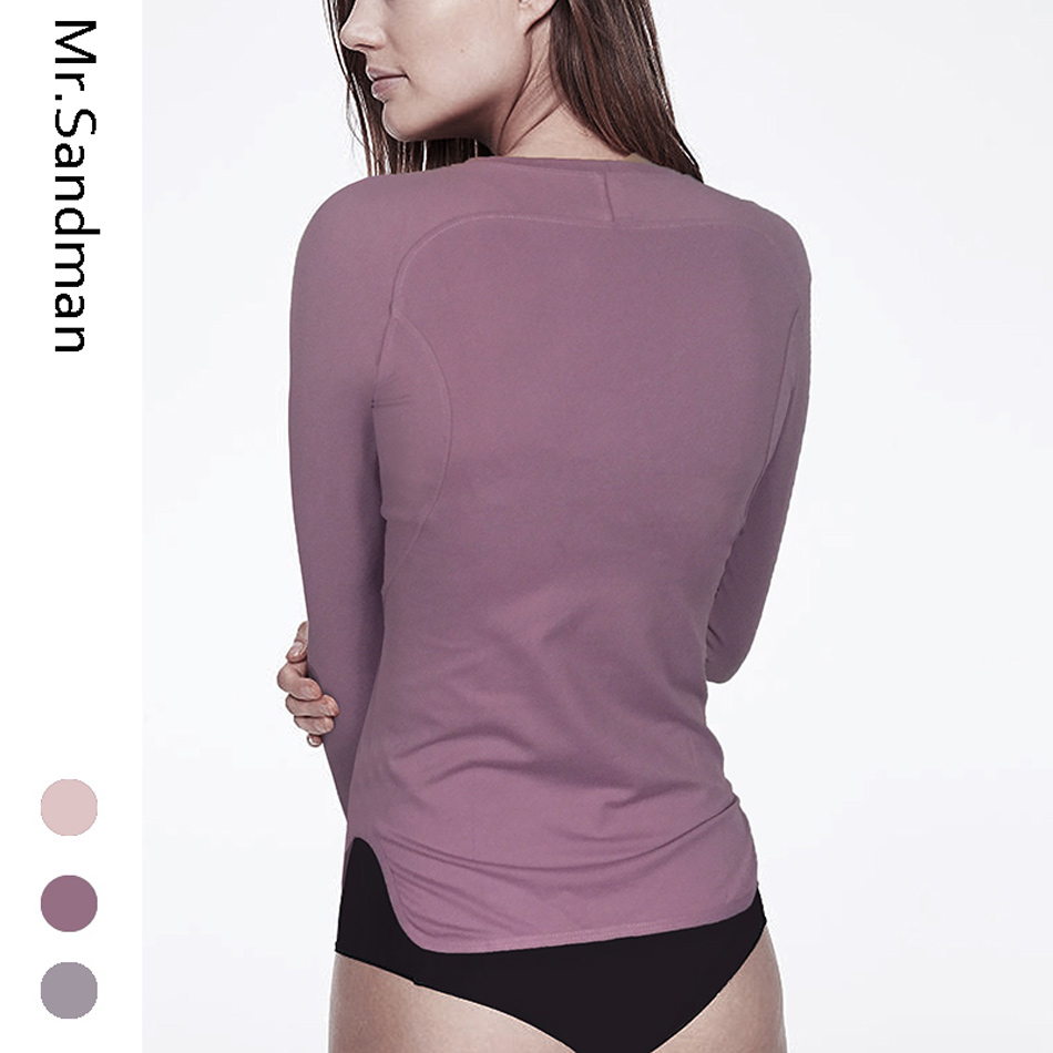 Women's yoga shirts long sleeve workout gym top solid yoga top with thumb hole breathable fitness sport shirts jogging jersey 1