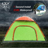 Outdoor Lazy Tents Portable 2 4 People Fully Automatic Fast Folding Waterproof Beach Camping Hand Throwing