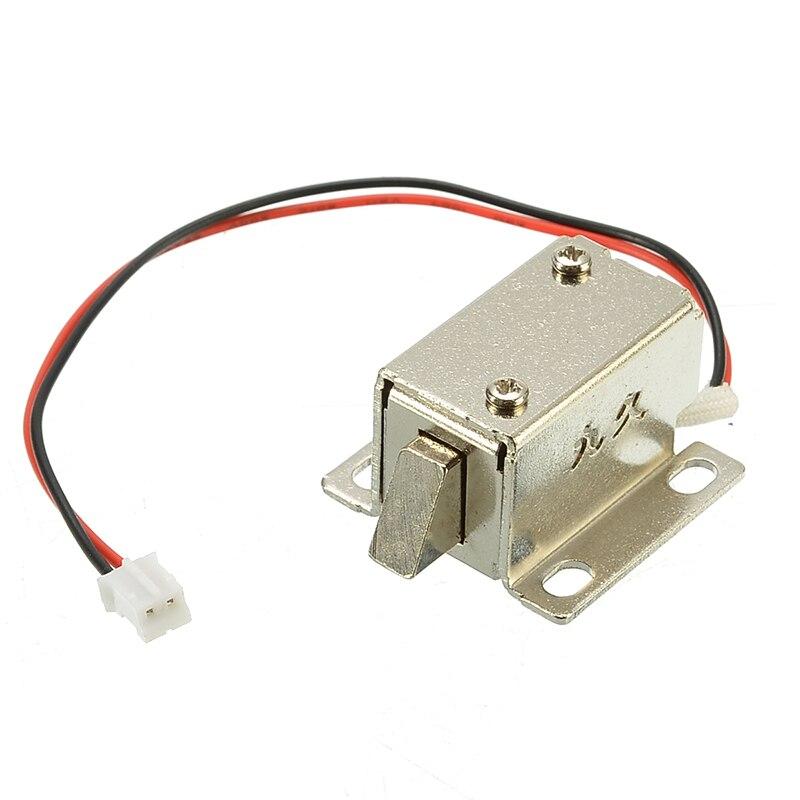 12V 0.4A serrure électronique attraper porte relâcher assemblée solénoïde contrôle d'accès métal sécurité serrure magnétique Protection de sécurité