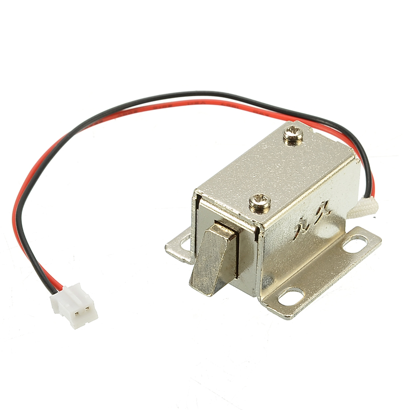 12V 0.4A Electronic Lock Catch Door Gate Release Assembly Solenoid Access Control Metal Safety Magnetic Lock Security Protection