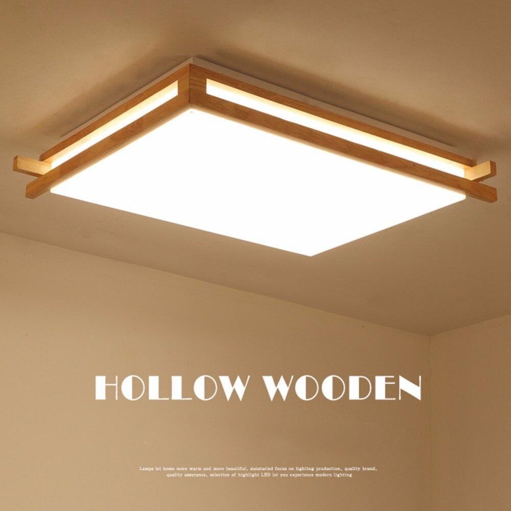 Здесь продается  IMINOVO Japanese style ceiling lamp living room lights modern minimalist led rectangular bedroom lamp Nordic study lighting   Свет и освещение