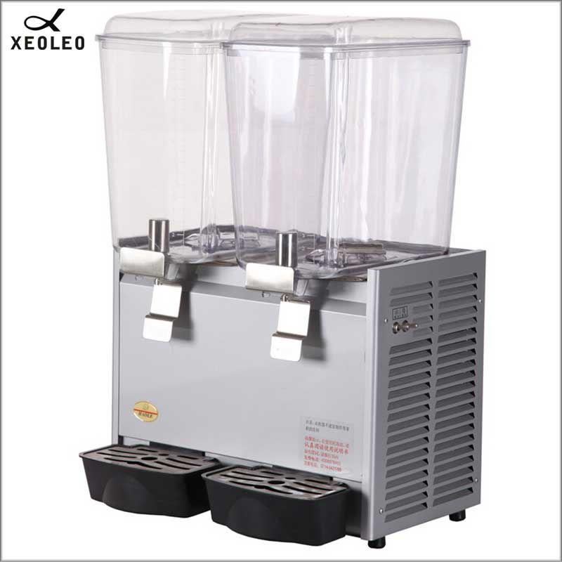 XEOLEO Double Tanks Drink Dispenser 18L*2fruit Juice Dispenser 200V Mixing Juice Dispenser Fountain Type Beverage Machine