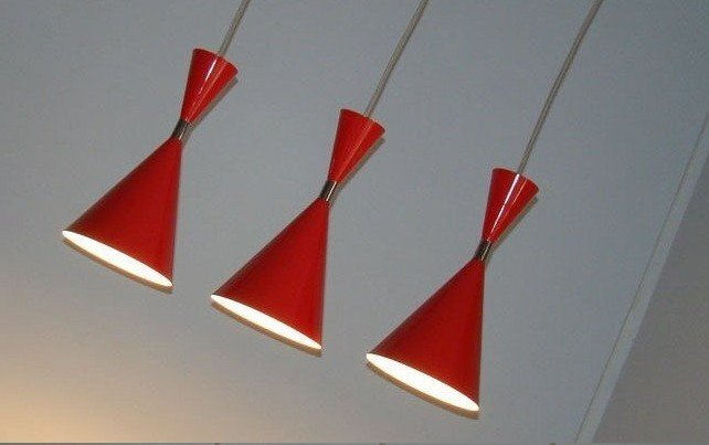 Hot selling Free shipping fashion red three lights  aluminium pendant lamps  also for wholesale brand new