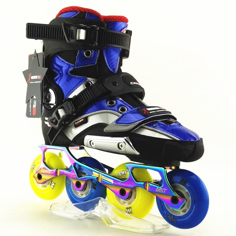 slalom R5 RS ROLLER skates shoes inline Roller Skating Shoe High Quality freeline skate 1 pair ice skating blade maple dislocation inline skate roller skating shoes diy 380mm 410mm 430mm length free shipping