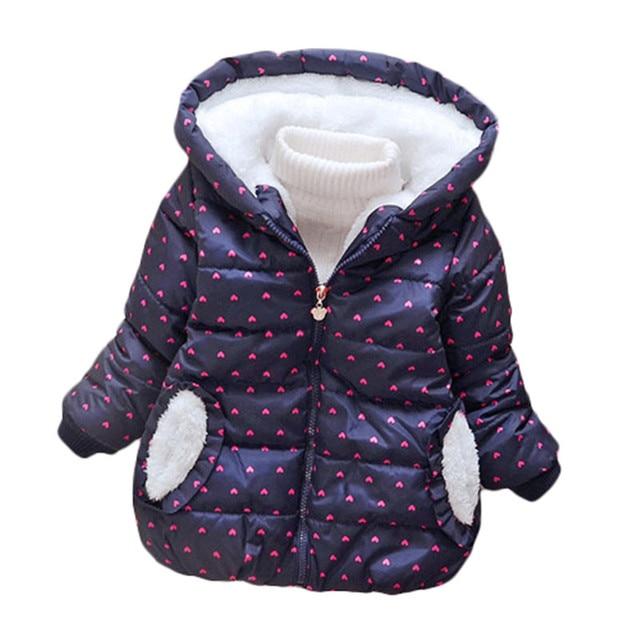 Boys Winter Coat Baby Girls Jacket Kids Warm Outerwear Children Coat 2017 fashion Spring Children Clothing Boys Hooded jacket