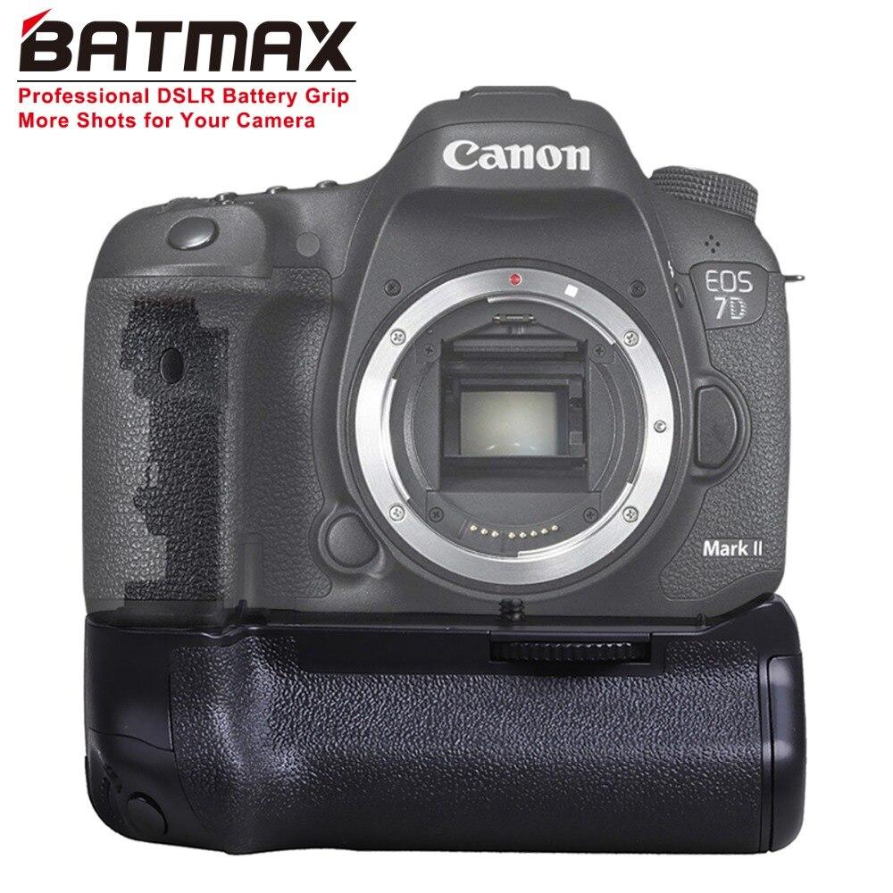 Batmax BG-E16 poignée de batterie pour Canon 7D Mark II 7D2 DSLR caméra BG-E16 BGrip travail avec batterie de LP-E6 ou 6 piles AA