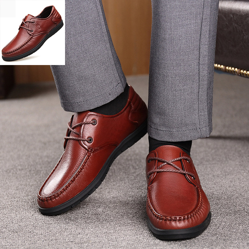 2019 famous brand high quality breathable wear men 39 s leather shoes business casual breathable soft leather soft bottom shoes men in Men 39 s Casual Shoes from Shoes