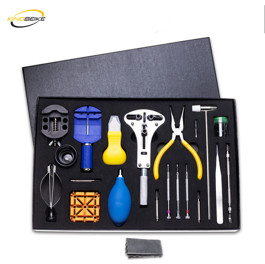 KINGBEIKE Watch Tool Set Watch Repair Tool Kit Case Opener Band Link Remover Holder Watchmaker Tools Horloge GereedschapKINGBEIKE Watch Tool Set Watch Repair Tool Kit Case Opener Band Link Remover Holder Watchmaker Tools Horloge Gereedschap