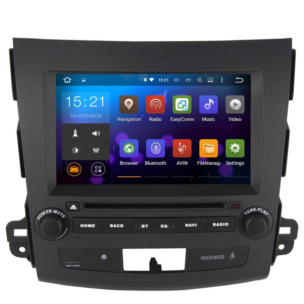 imágenes para Android 7.1 2 Din DVD Del Coche para Mitsubishi Outlander 2007 con espejo Enlace 1024*600 CPU 1.6G auto multimedia Estéreo SAT nav Wifi