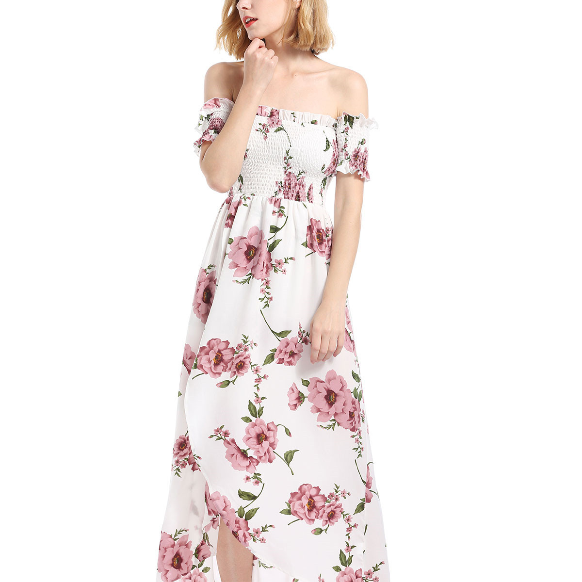 Aphrodite Home Fashion Women's Wear Strapless Floral Print ...