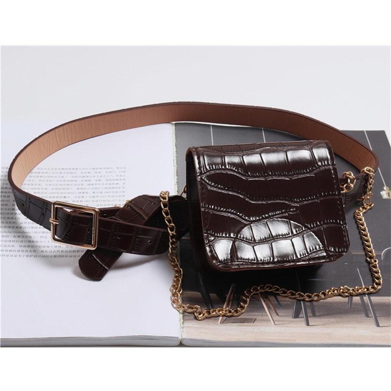 ワニのパターン女性のストリートバッグ蛇行ポーチバッグ小旅行ベルトファニーパックマネーコイン States  USD 9