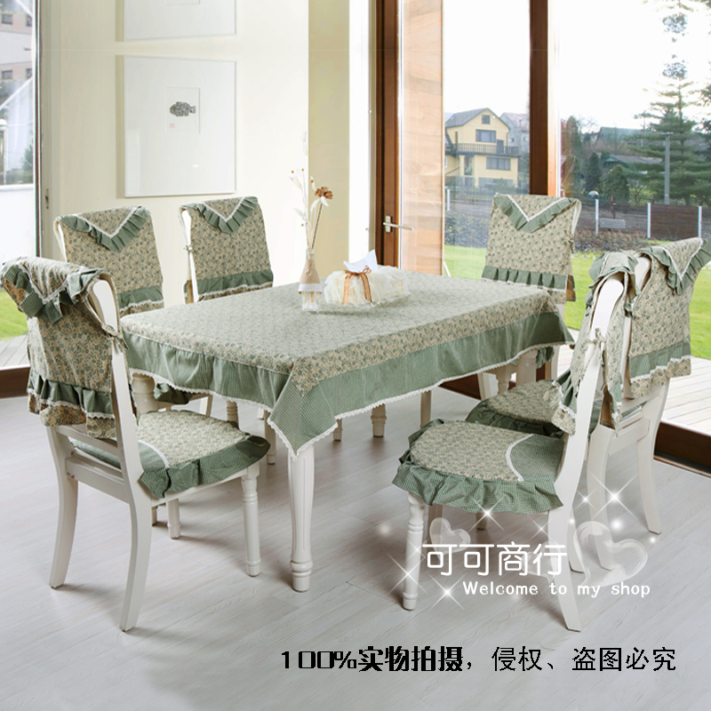 Ec29 green plaid quality cloth dining table cloth tablecloth dining table cloth table linen cushion chair cover