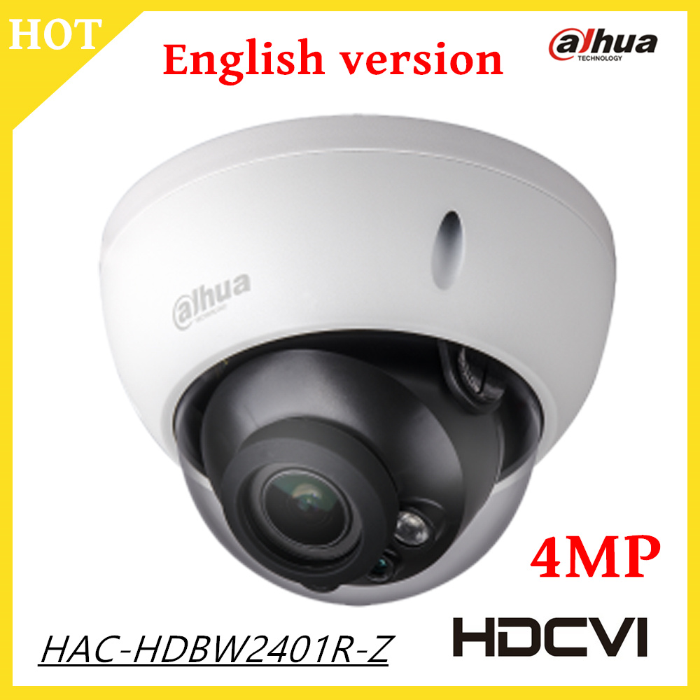 2017 New 4mp Dahua HDCVI Camera 2.7-12mm Motorized Lens Smart IR distance 30m Outdoor IP67 CCTV Camera HAC-HDBW2401R-Z