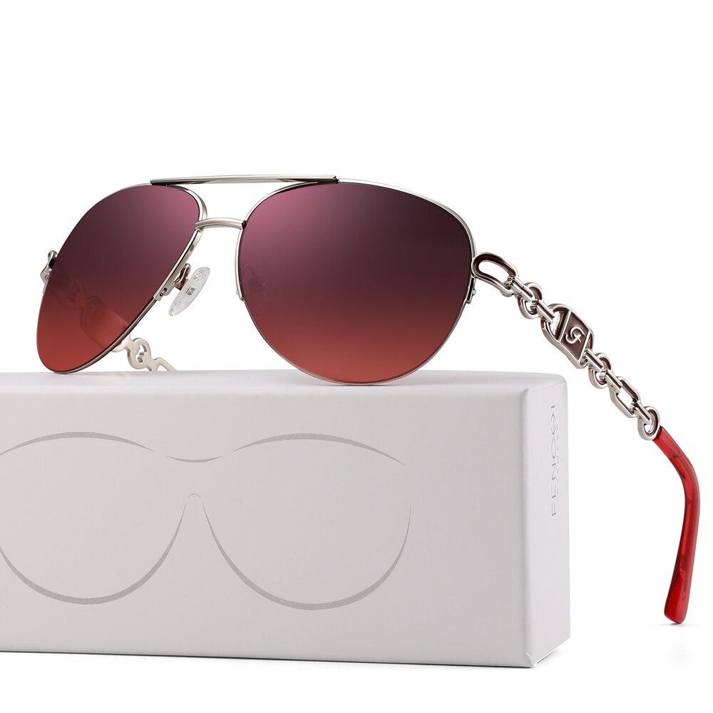 FENCHI sunglasses women uv 400 oculos female glasses sun glasses mirror Pilot Pink feminino zonnebril dames gafas de sol mujer 7