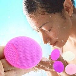 Silicone almofada de lavagem rosto esfoliante cravo limpeza facial ferramenta beleza nova