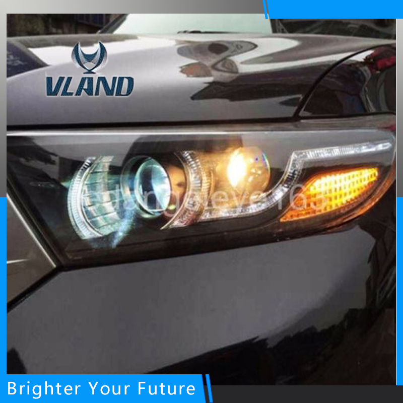 Auto Head Lamp Front Lights  For TOYOTA Highlander Headlight DRL H7/D2H HID Xenon bi xenon lens 2 pcs h7 6000k xenon halogen headlight head light lamp bulbs 55w x2 car lights xenon h7 bulb 100w for audi for bmw for toyota
