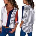Frauen Gestreiften Bluse sommer 2020 Langarm Elegante Blusas Feminino Arbeit Büro Hemd Casual Korea Stil damen Camisas Heißer Neue