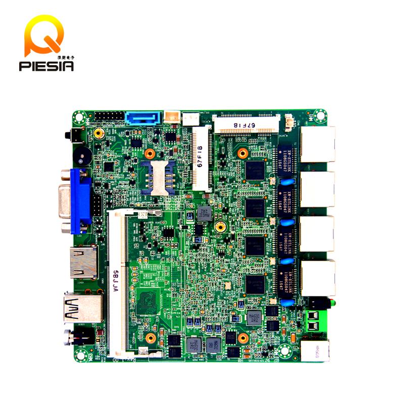 2017 Very cheap J1900 4 Lan Ports Motherboard, four gigabit ethernet Mainboard, Fanless MINI Thin Mainboard With MSATA&SIM Slot