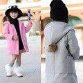 Capa de las muchachas 2017 nueva girls clothing niños coreanos de primavera abrigo de lana de lana capa de las muchachas outwear