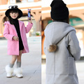Girls coat 2017 new girls clothing  Korean children spring woolen coat woolen coat girls outwear