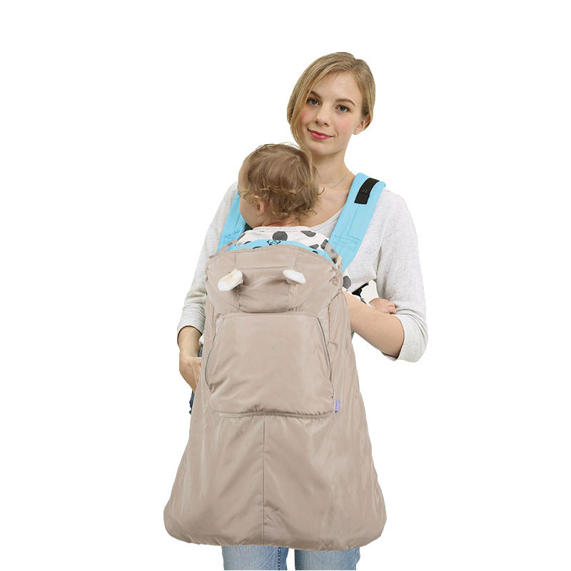 Infant Baby Carrier Wrap Comfort Sling Winter Warm Cover Cloak Blanket Grey Consumers First Backpacks & Carriers Mother & Kids