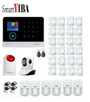 SmartYIBA RFID 3G WIFI Alarm System Siren Strobe PIR Motion Detection Door Magnetic Sensor Home Security GPRS SMS Alarm Kits