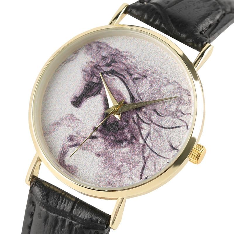 Twórcze kobiety zegarki Horse Ink Emblemat skórzany Bangle Ladies - Zegarki damskie - Zdjęcie 3