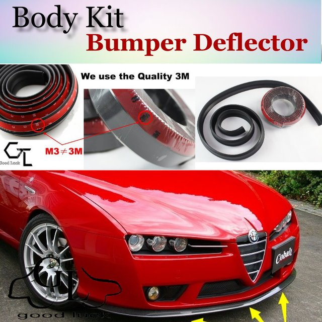 bumper lip deflector lips for alfa romeo brera / spider ar front