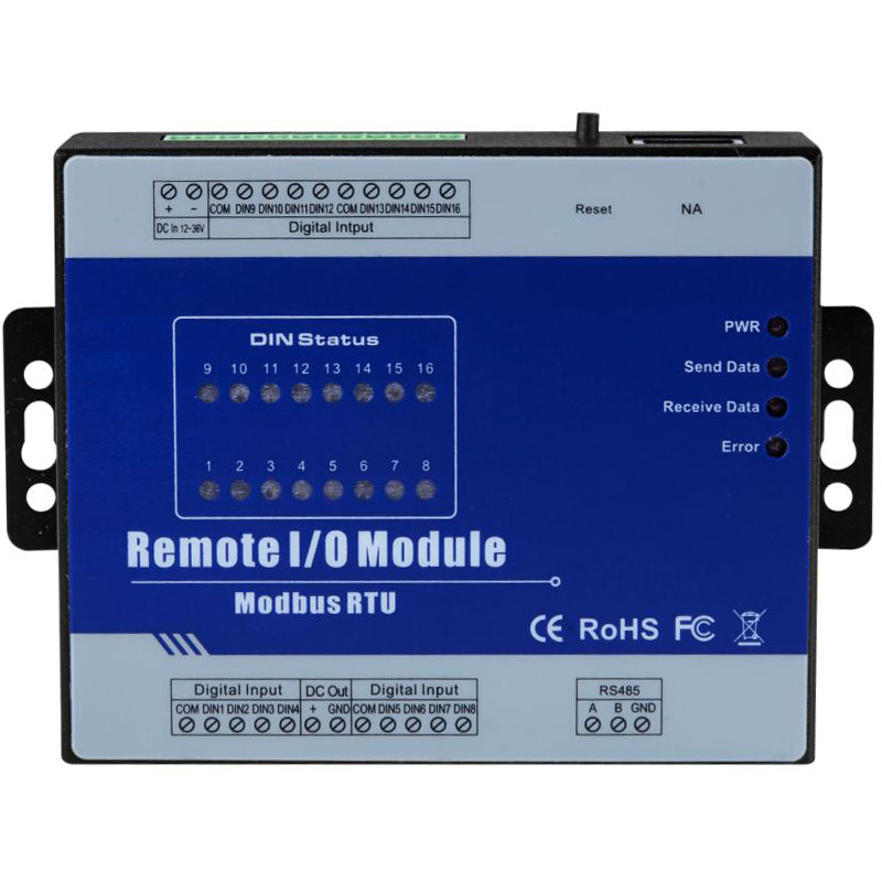 все цены на Modbus Remote I/O Module 16 Optical-isolated Digital Inputs inbuilt watchdog with 1 RS485 Serial port онлайн