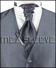 hot sale free shipping small check  grey  wedding dress styles(vest+ascot tie+cufflinks+handkerchief)