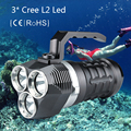 Diving flashlight LED Military 18650 battery CREE L2 light Magnetic switch 150 meters diving portable led lamp